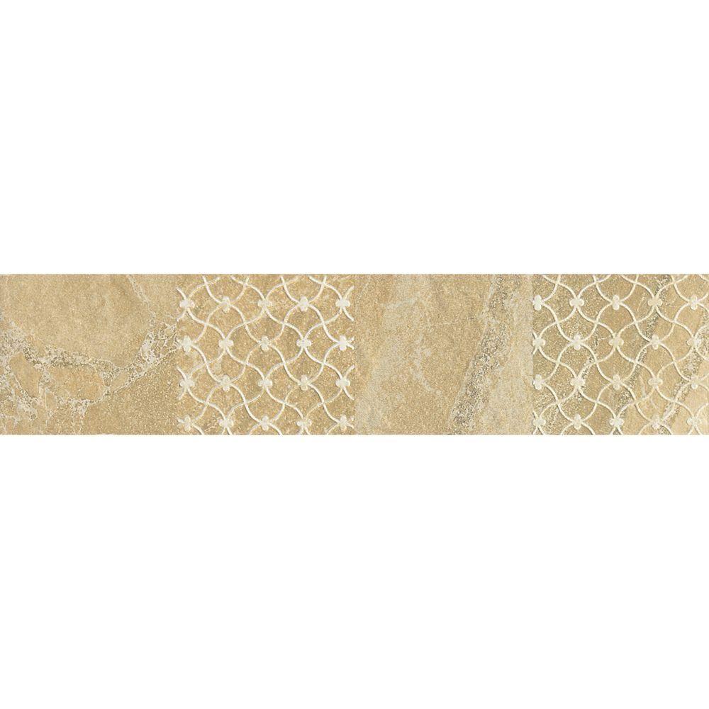 Daltile Ayers Rock Golden Ground 3 in. x 13 in. Glazed Porcelain ...