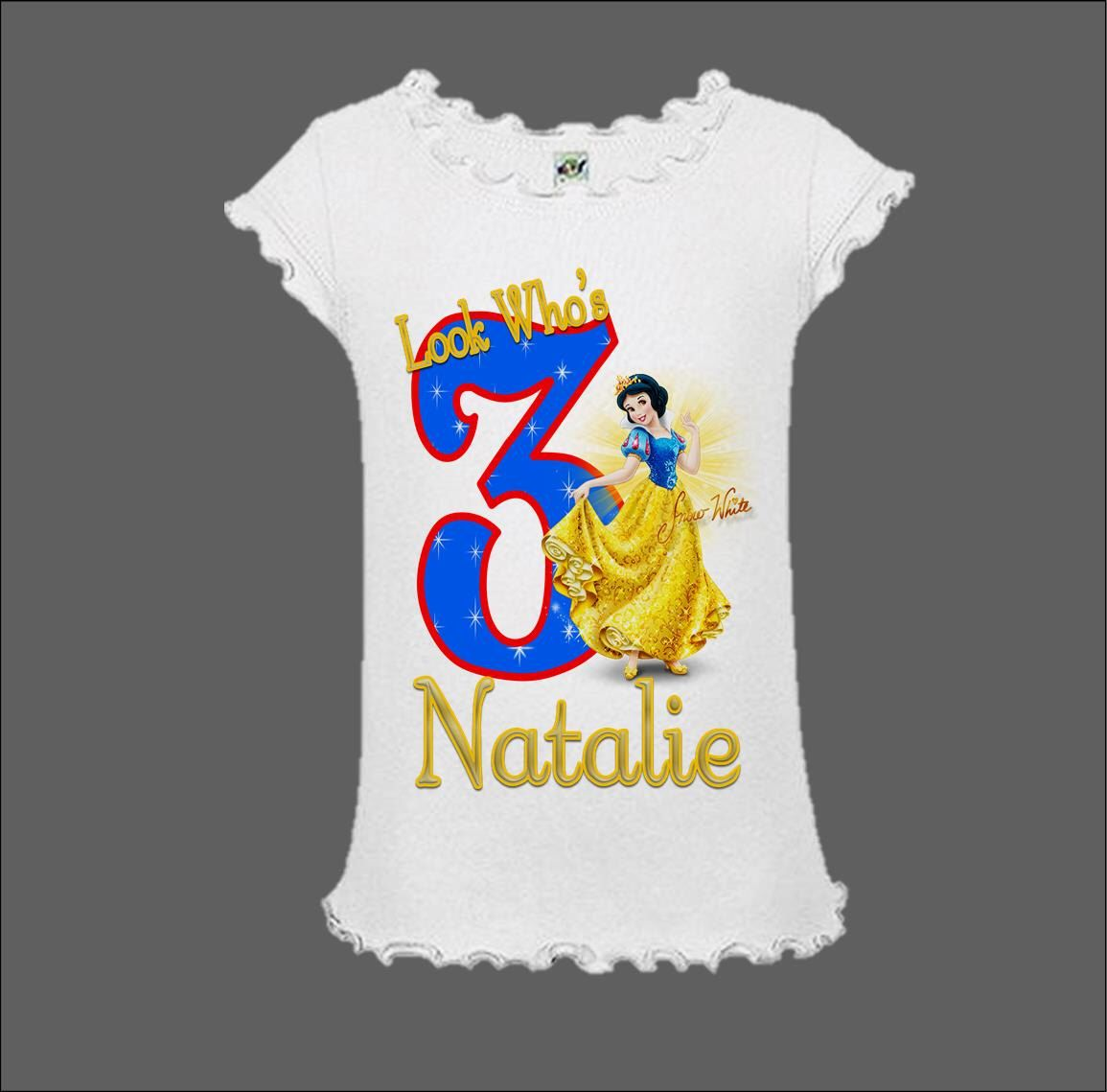 Snow White Birthday Shirt//Snow White Shirt//Princess Birthday Shirt//Snow White Outfit//Snow White Party Shirt