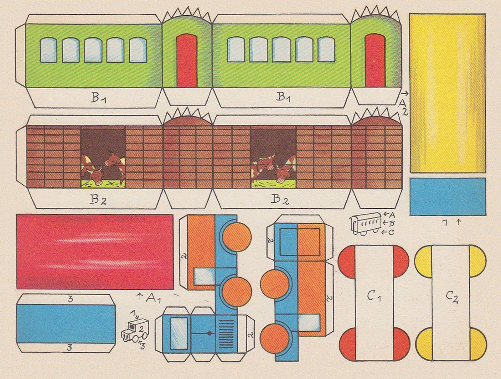 Vintage Paper Train Printables