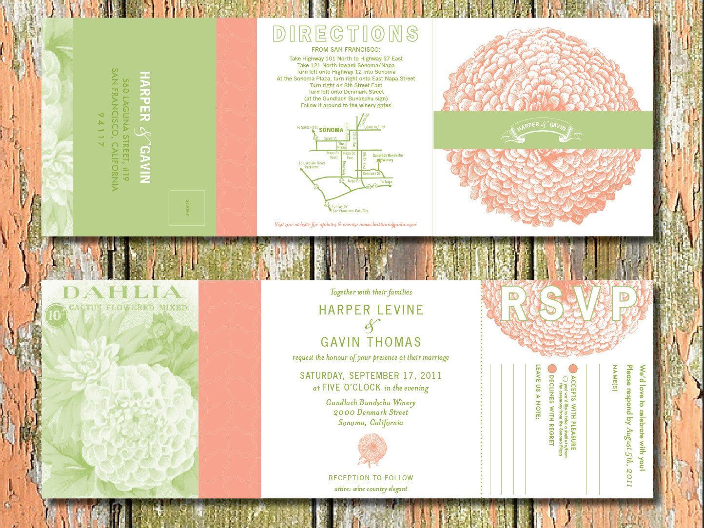 all-in-one #invitation (With images) | Wedding invitations ...