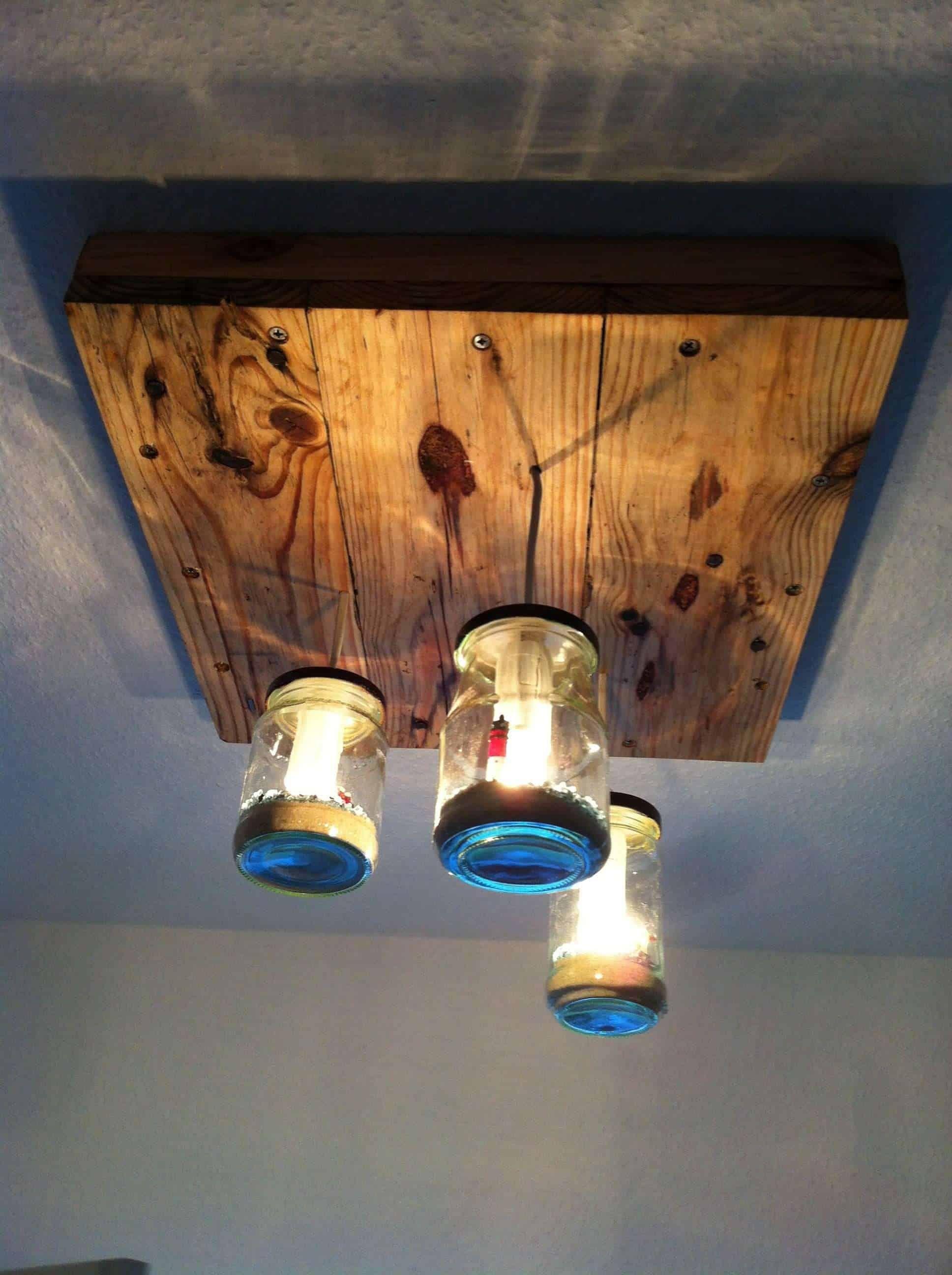 Pallet Jars Pendant Lamp 1001 Pallets Pallet Light Pallet Diy Diy Pallet Projects