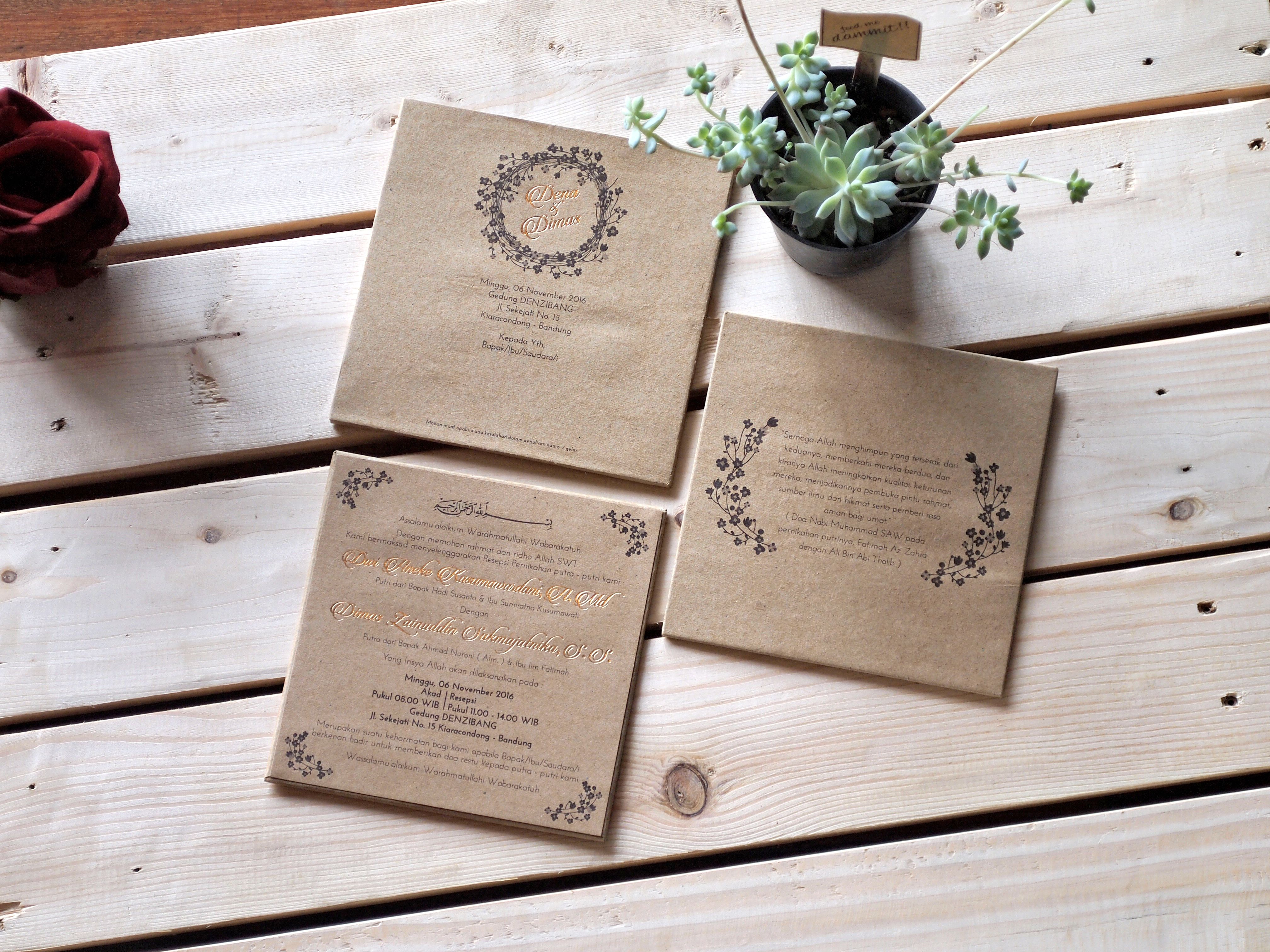 Wedding invitation cards rustic themed decorated with the name of wedding invitation cards rustic themed decorated with the name of shiny gold look simple and natural monicamarmolfo Choice Image