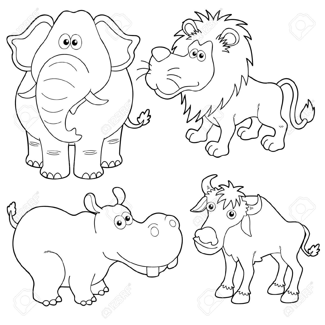 Uncategorized Wild Animal Drawing 16608665 illustration of wild animals cartoons outline stock vector art clipart and vectors