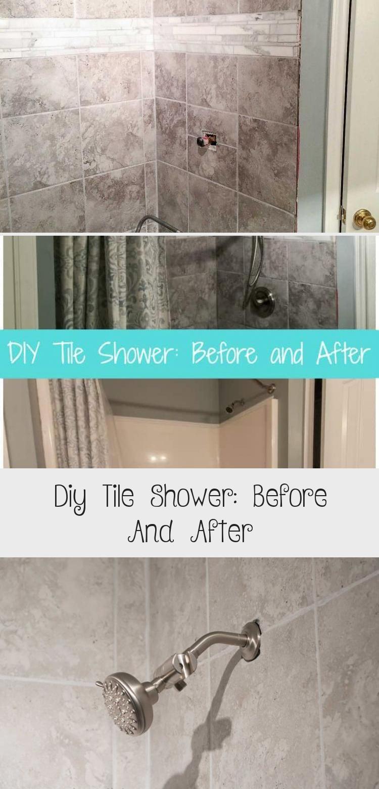 Diy Tile Shower Before And After Tub Shower Combo Tiles