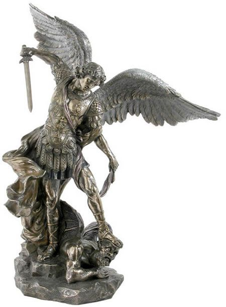 dfeebd5f57e Saint Michael Sculpture Religious Figurine Statue Sculpture-Home  Décor-Decorations-Christian Related Gifts-Available for Sale at  AllSculptures.com
