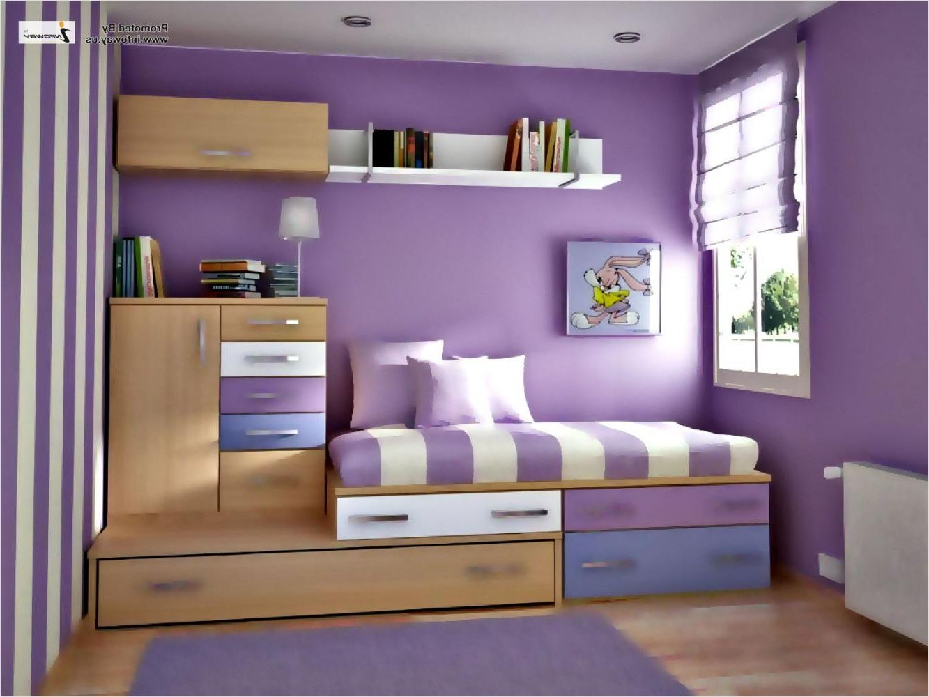 11 Small Bedroom Ideas Amazing for the Modern Small Home  Purple
