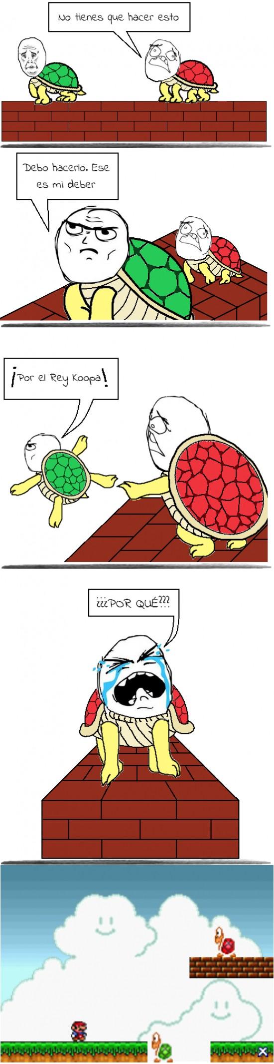 Sacrificio Nivel Mario Bros Goodbye World Goodbye My Friend Green Turtle