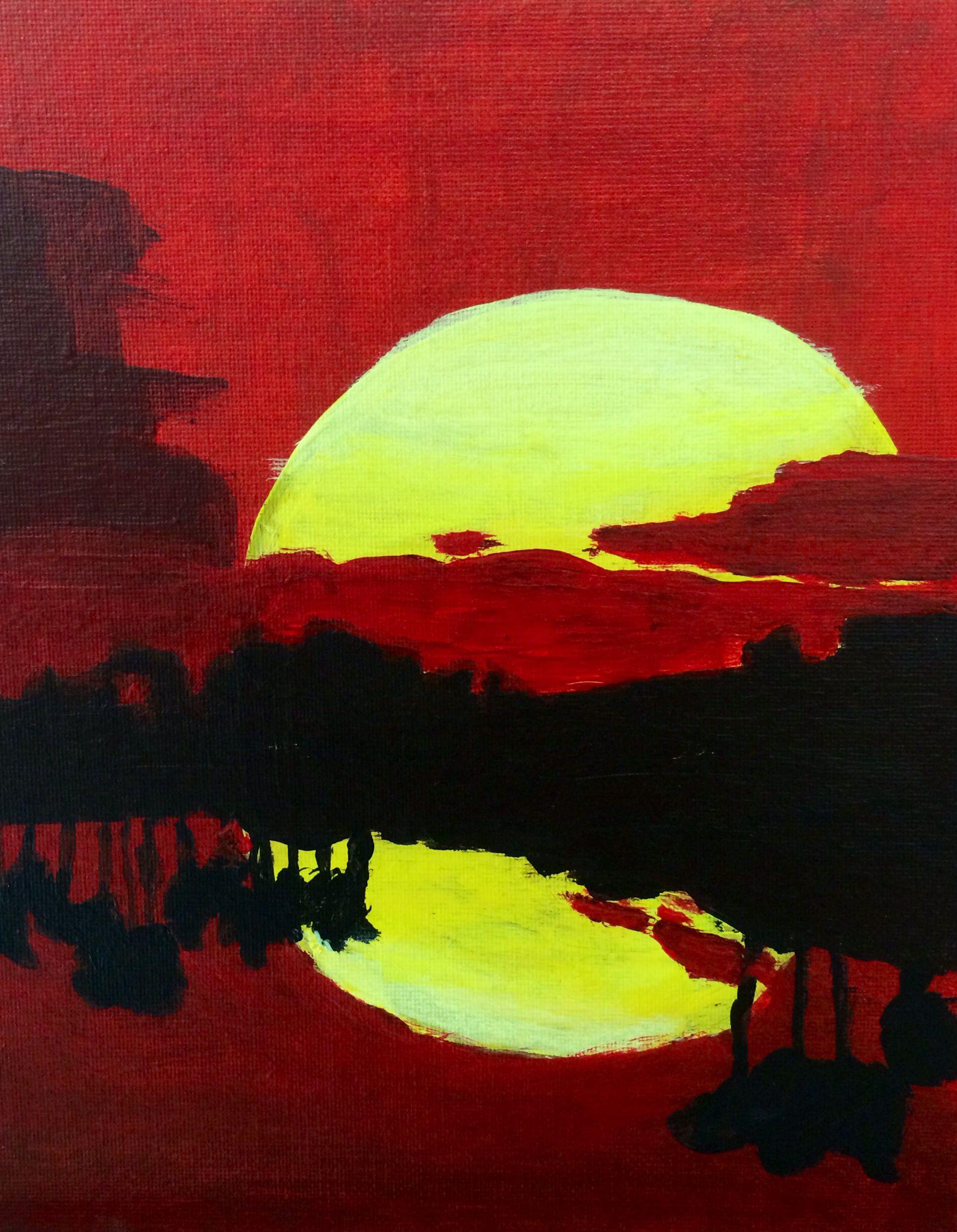 Landscape Analogous Color Scheme Color Unit Using Acrylic