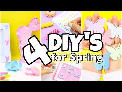 4 DIY Room Decor Ideas-easy crafts for Spring-4 unique DIY Projects -  sc 1 st  Pinterest & 4 DIY Room Decor Ideas-easy crafts for Spring-4 unique DIY Projects ...