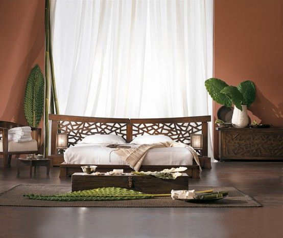 Attrayant Extraordinary Indonesian Bedroom Furniture Ideas With Decoratice Plants
