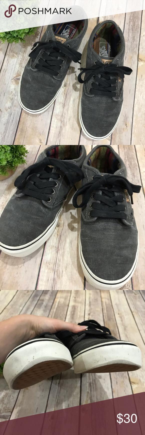 Vans { Men's Ultracush Gray Corduroy Sneakers 8.5 These