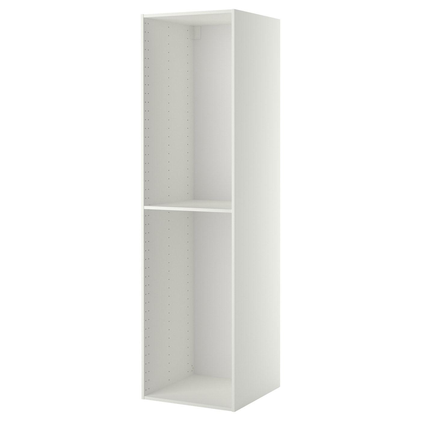 Metod High Cabinet Frame White 60x60x220 Cm Mit Bildern