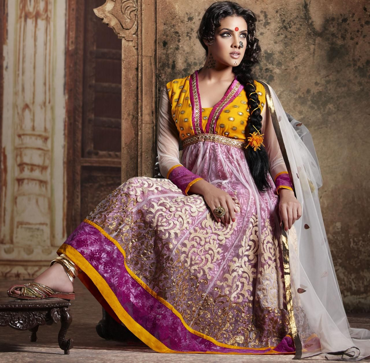$88.42 Pink And Gold Net And Shimmer Full Sleeve Designer Salwar ...
