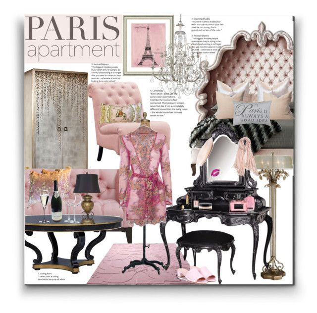 """Paris"" by marionmeyer on Polyvore featuring interior, interiors, interior design, Zuhause, home decor, interior decorating, Haute House, Home Decorators Collection, John-Richard und Signature Design by Ashley"