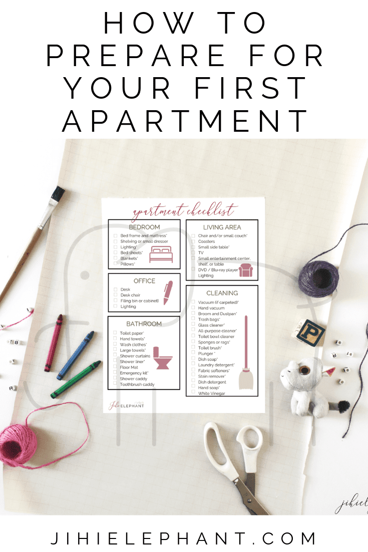 First Apartment Basics Checklist #firstapartment