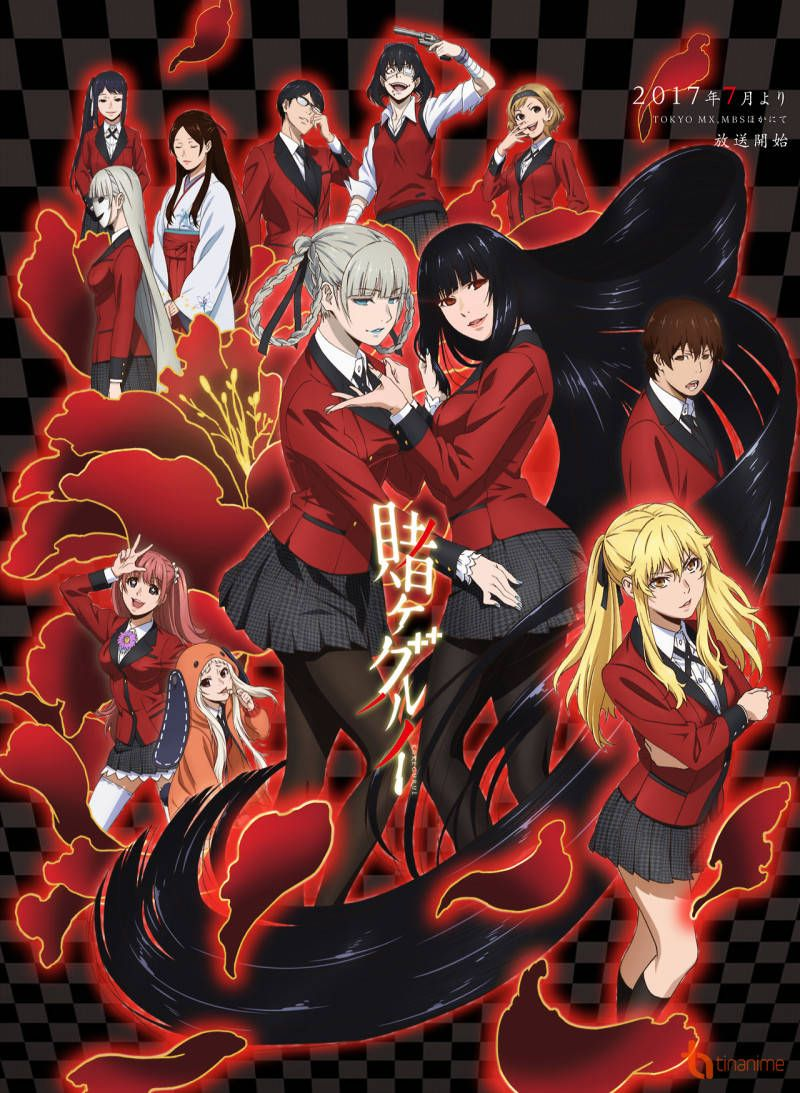Upcoming anime kakegurui is about a prestigious school where students social standing is determined by their skill at high stakes gambling