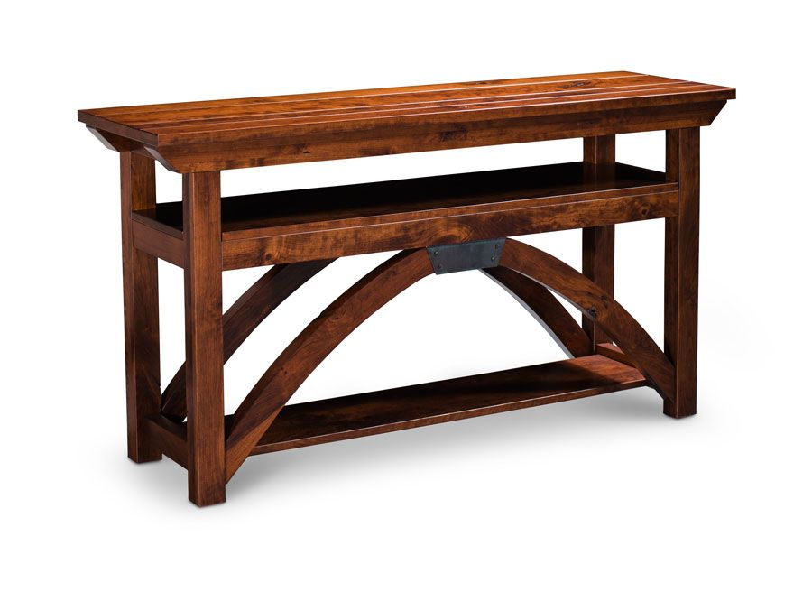B Railroad© Trestle Bridge Open TV Stand From Simply Amish Furniture