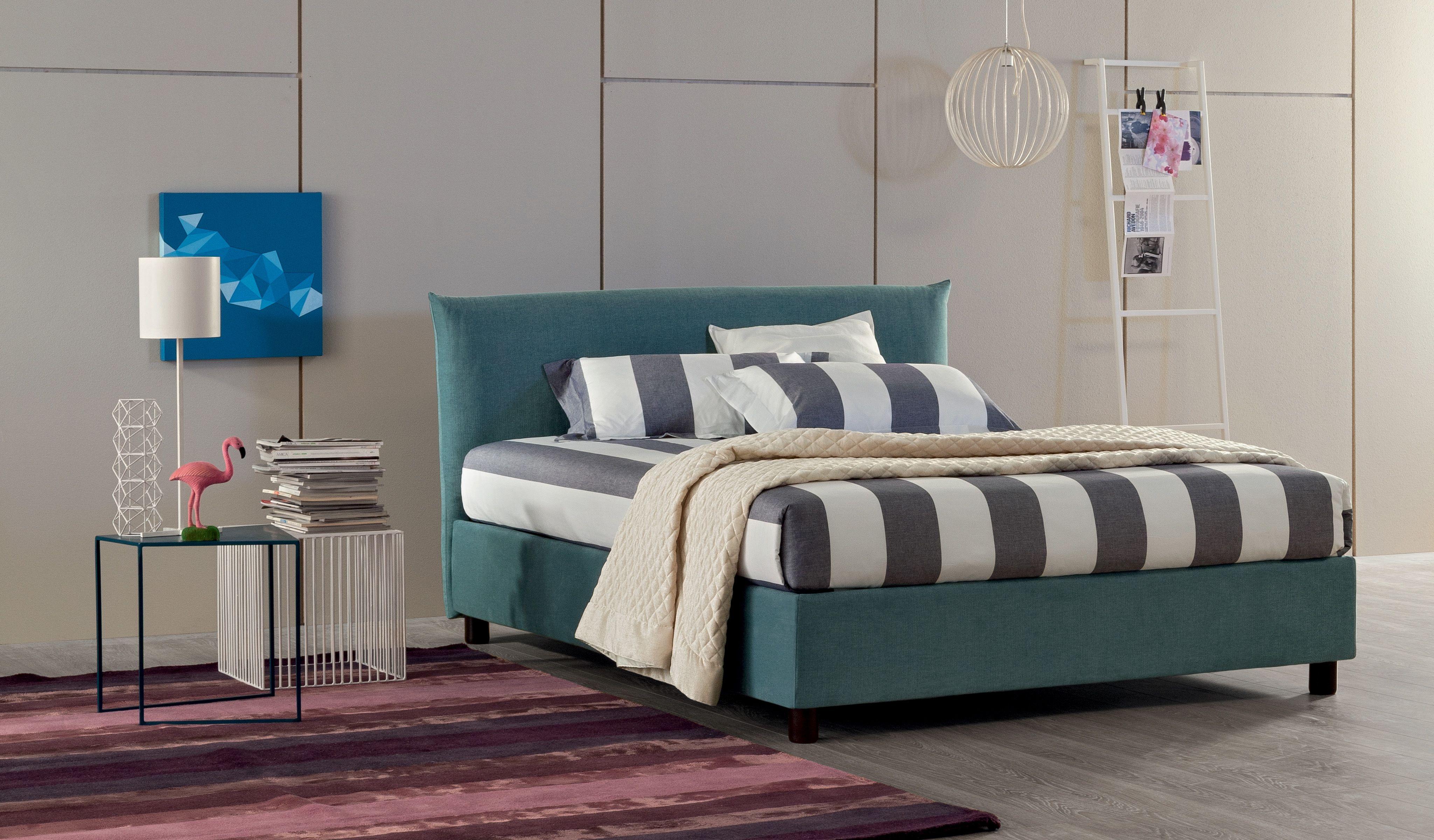 Relaxing Colors Letto Tessile Con Base Contenitore Alto