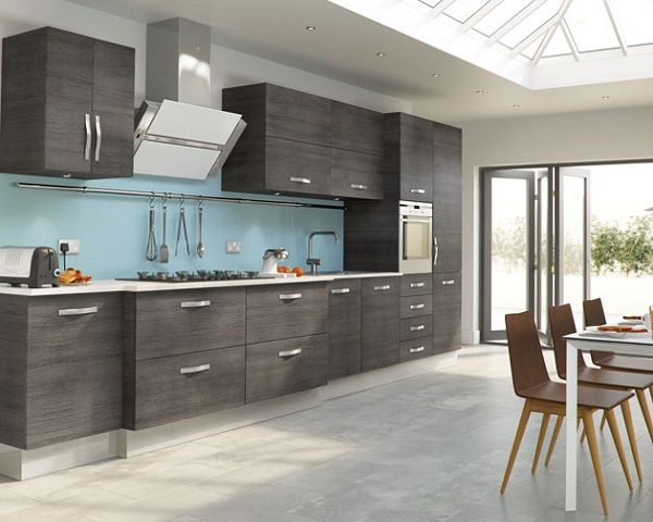 Cocina con falsa madera gris Design kitchens Pinterest Madera