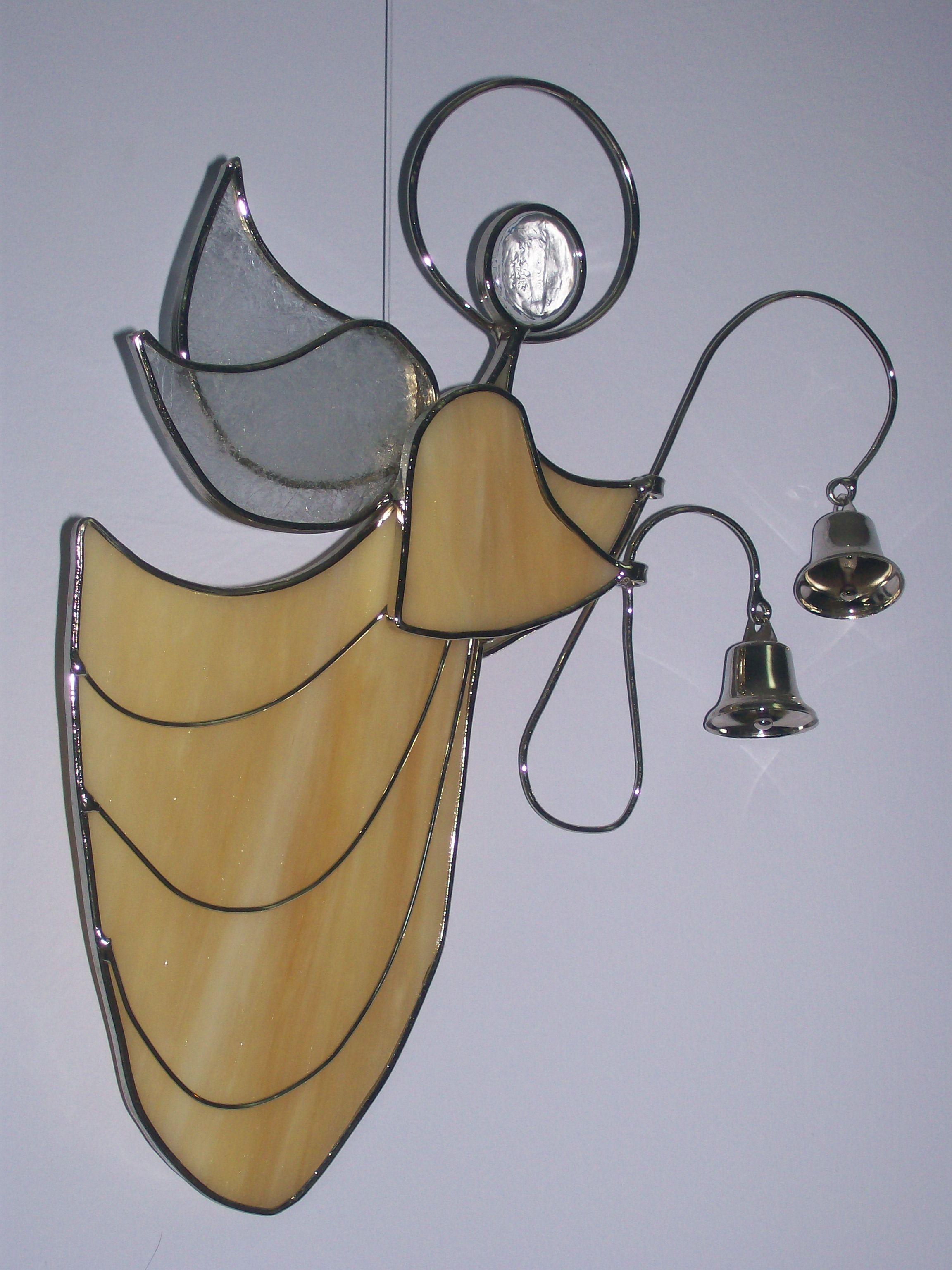 Recuerdos De Bautizo Quito.Angel De Pared 30 Cm De Alto En Vitral Arte Vidrio Quito
