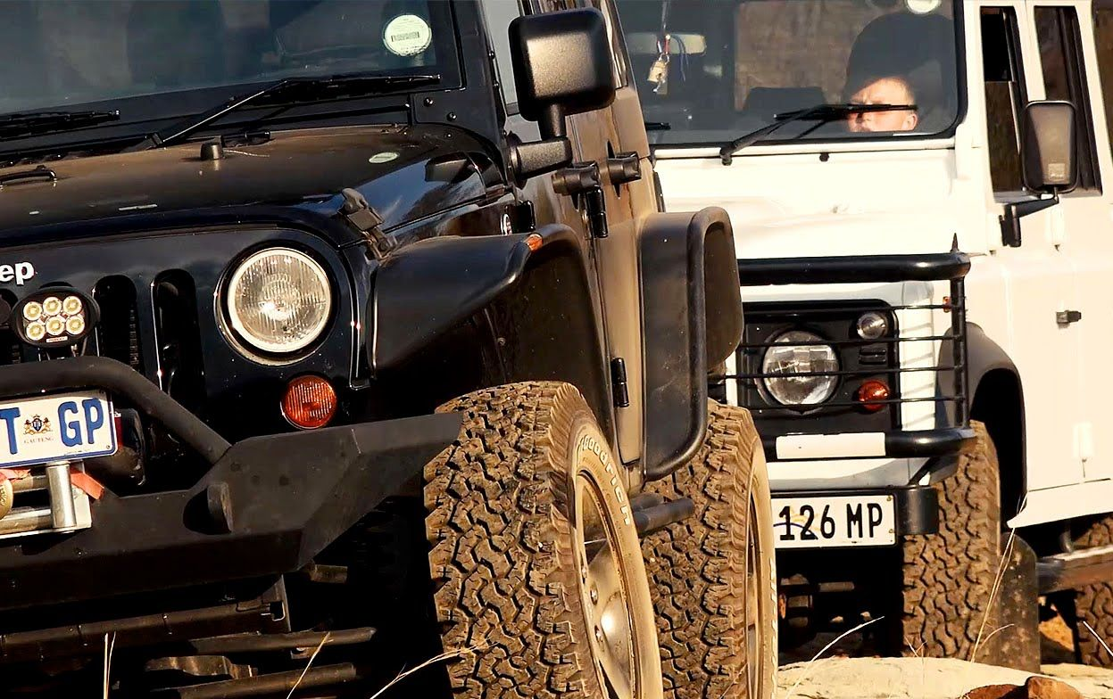 Land Rover Defender Versus Jeep Wrangler Rubicon With Images