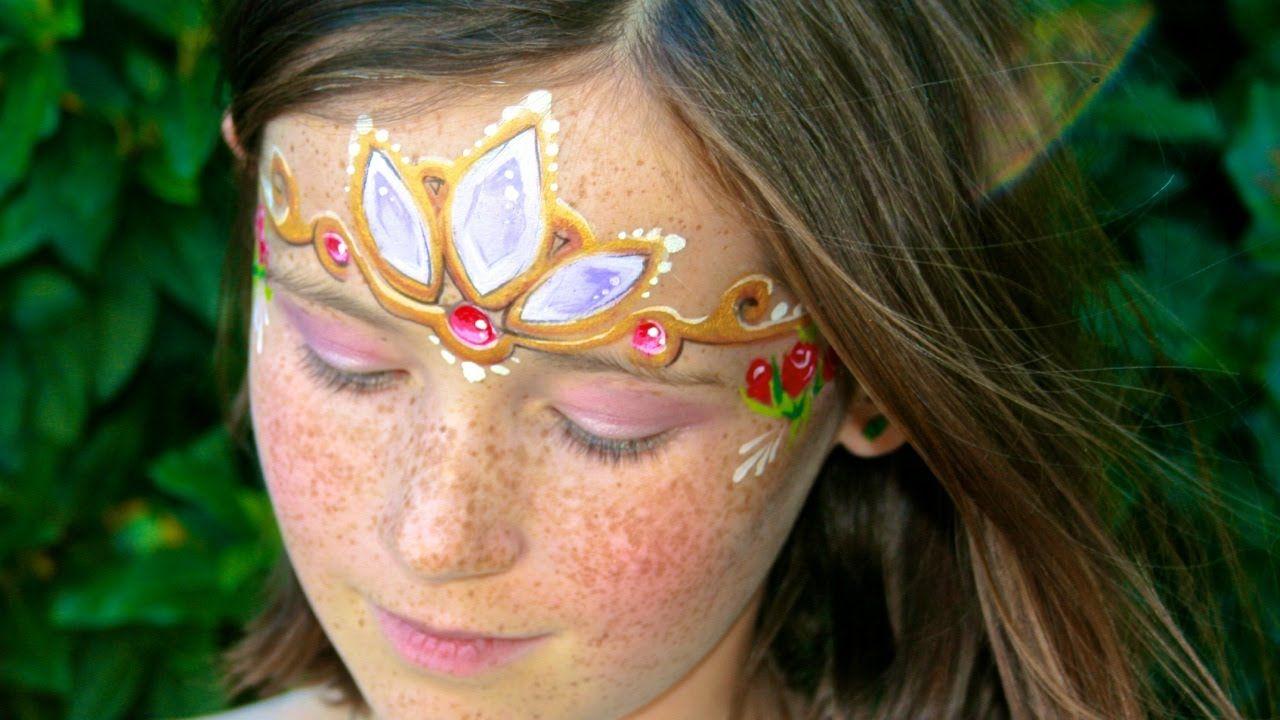 Fairytale princess face painting makeup tutorial rapunzels fairytale princess face painting makeup tutorial rapunzels crown t baditri Choice Image