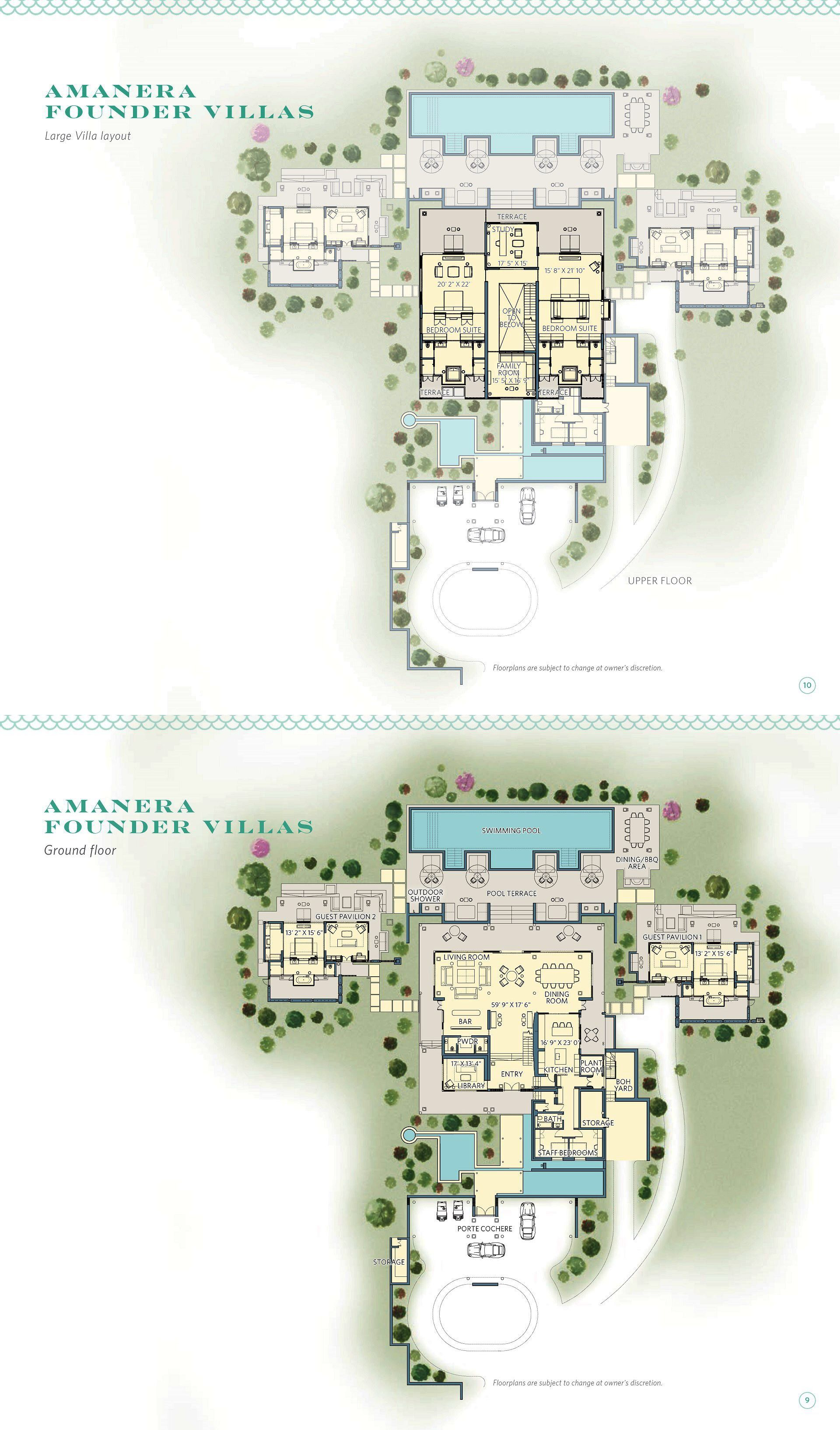Amanera Founder Villas Playa Grande Golf And Ocean Club House Plans Mansion Mansion Floor Plan Modern Style House Plans