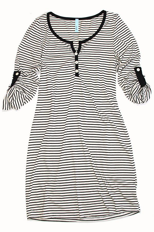 Striped Henley Dress