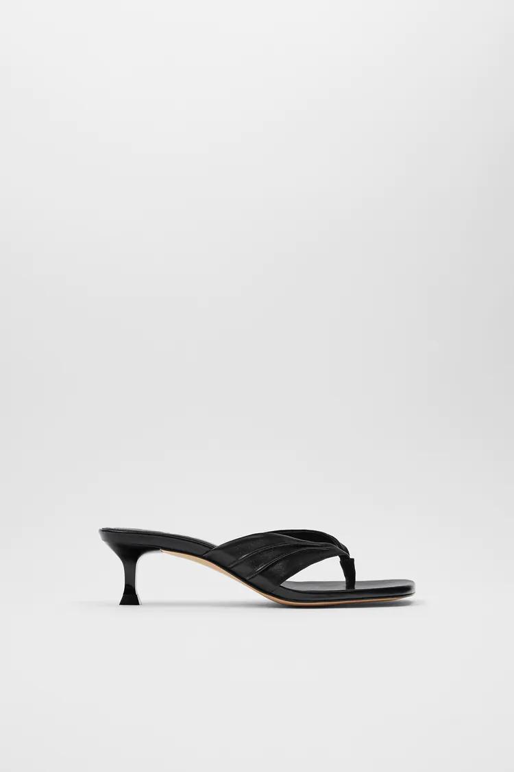 Buty Damskie Zara Polska Heels Sandals Heels Leather High Heels
