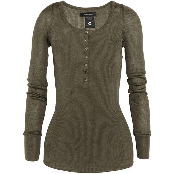 Mamy ribbed silk-jersey top (£86) ❤ liked on Polyvore featuring tops, shirts, long sleeve shirts, long sleeves, rib shirt, extra long sleeve shirts, silk jersey, isabel marant shirt and ribbed long sleeve shirt