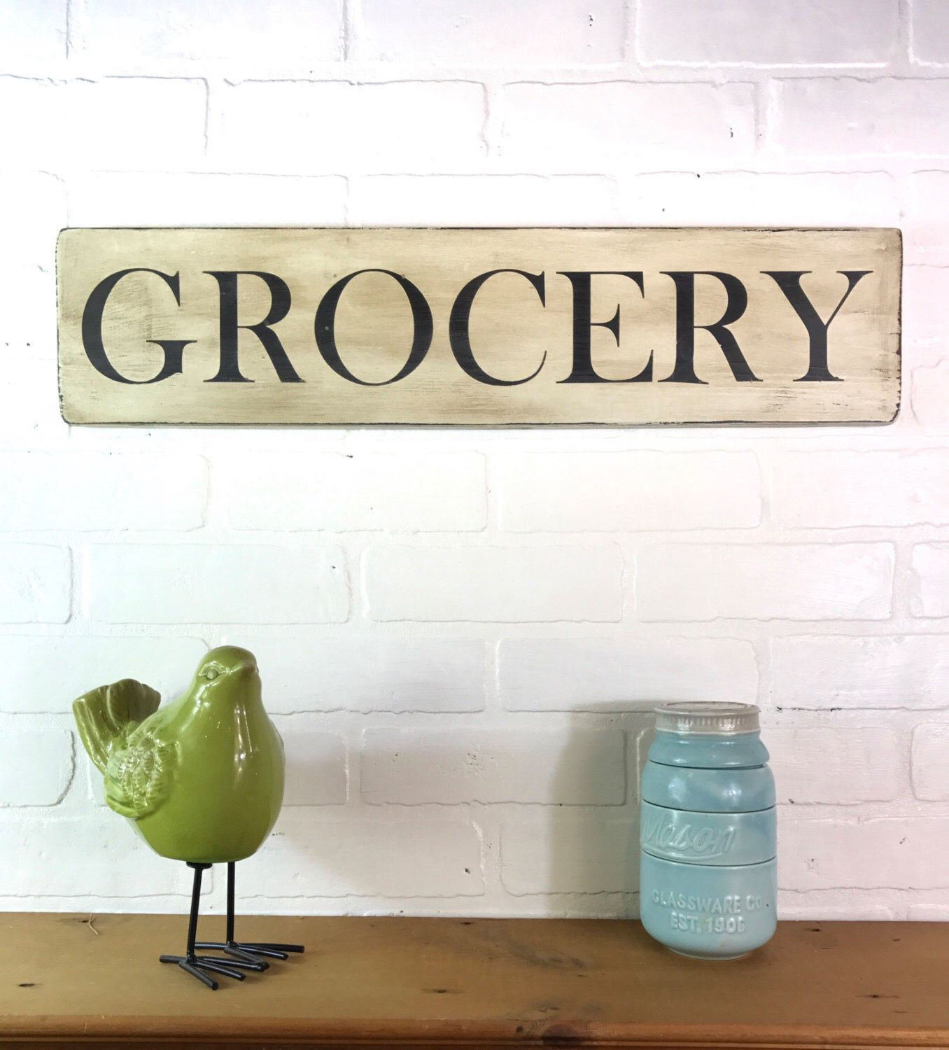 grocery sign | rustic wood kitchen sign | pantry sign | rustic