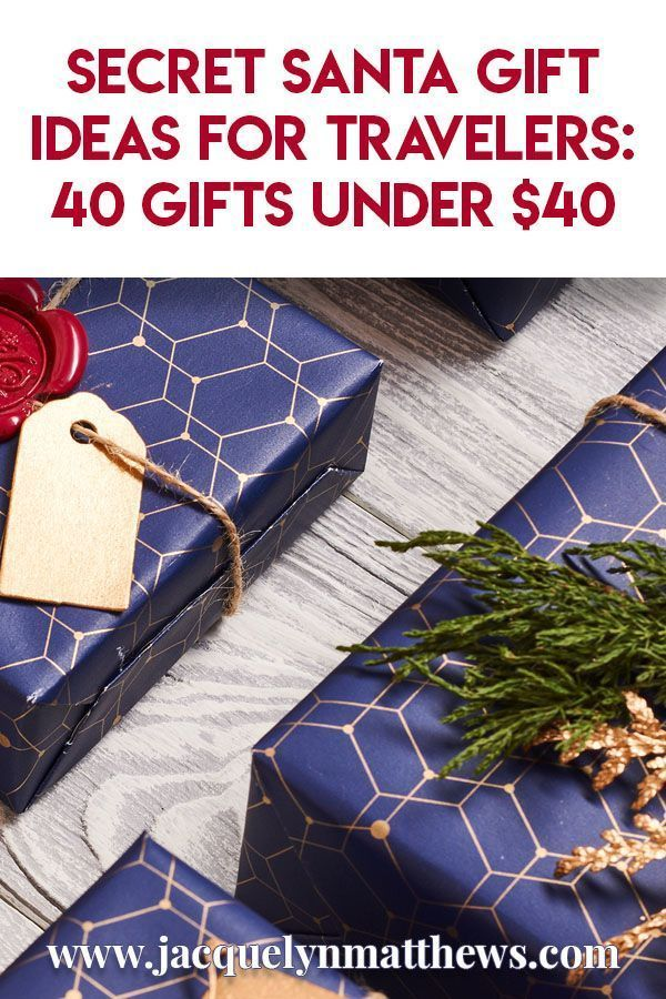 Secret Santa Gift Ideas for Travelers: 40 Gifts Under $40 | Texan Travels #secretsantaideasforwork Are you having a Secret Santa party at work or with a group of friends? Well if the person you've drawn loves to travel, I've got the perfect gift idea for you! Here's a list of 40 Secret Santa gift ideas under $40. #SecretSanta #WhiteElephant #ChineseChristmas #giftguide #giftideas #secretsantaideasforwork Secret Santa Gift Ideas for Travelers: 40 Gifts Under $40 | Texan Travels #secretsanta #secretsantagiftideas