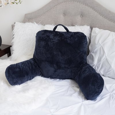 Latitude Run Saulsbury Plush Bed Backrest Pillow Bed Rest Pillow
