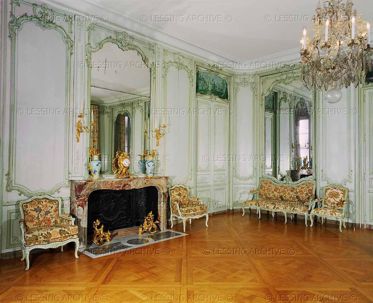the salon of the chateau d 39 abondant eure et loire france