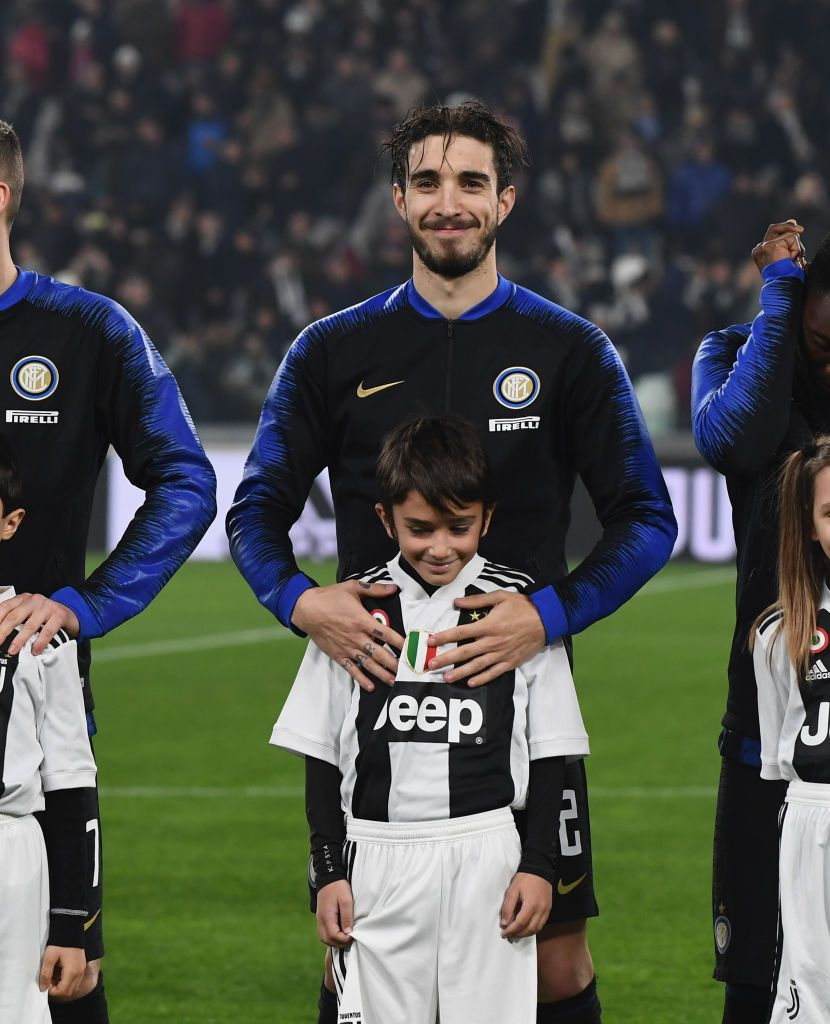 TURIN, ITALY - DECEMBER 07:  Sime Vrsaljko of FC Internazionale looks on before the Serie A match between Juventus and FC Internazionale at Allianz Stadium on December 7, 2018 in Turin, Italy.  (Photo by Claudio Villa - Inter/Inter via Getty Images)
