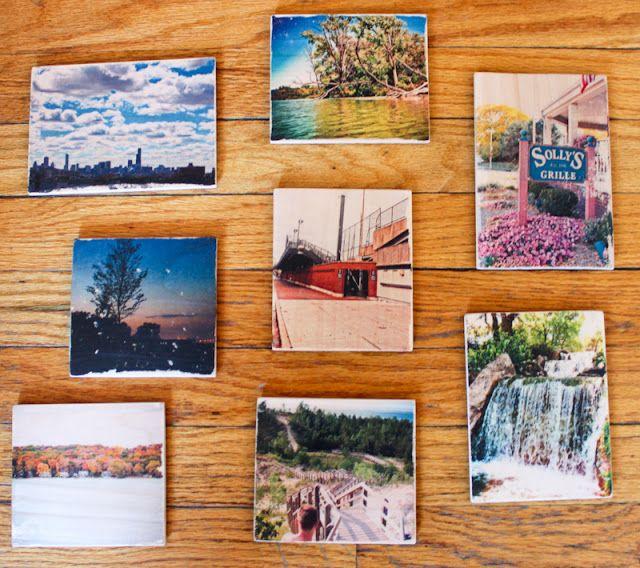 Diy Coasters Or How To Transfer Photos Onto Wood Diy Coasters