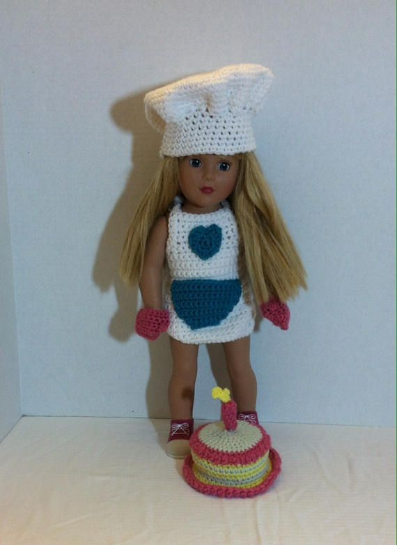 18 Inch Dolls, like American Girls doll Clothes, Baking Doll Outfit ...
