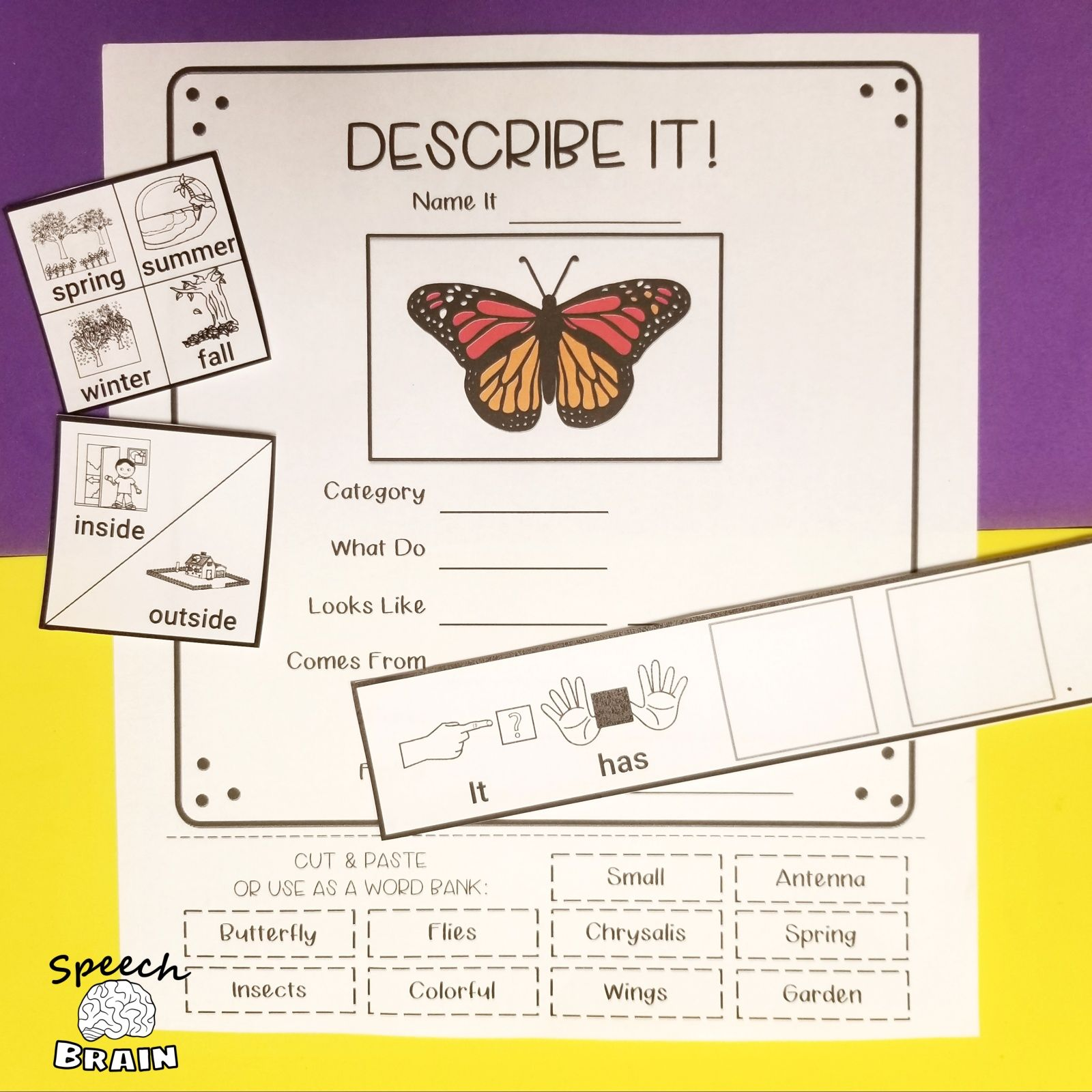Spring Vocabulary Activities In