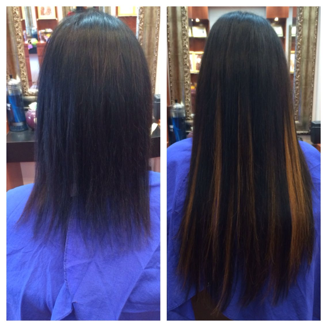 Before And After Hair Extensions Hairdimensionsalons