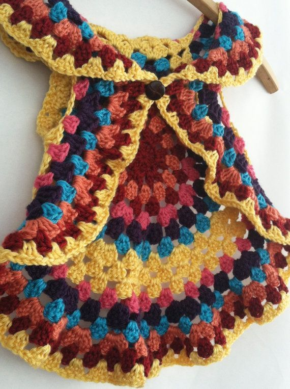 Free Crochet Pattern Colorful Baby Vest : Free+Crochet+Mandala+Vest+Pattern crochet patterns ...