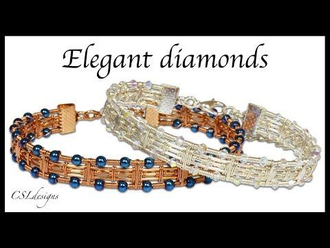 Elegant diamonds wirework bracelet - YouTube | Wire Jewelry ...