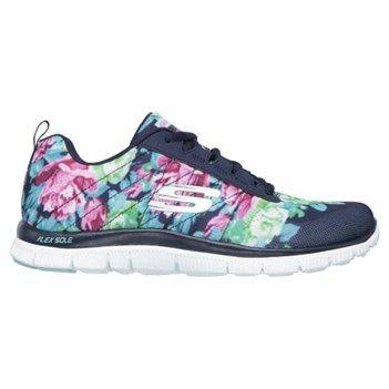 Skechers Women's Flex Appeal Wild Flowers Running Shoes (Navy/Multi)