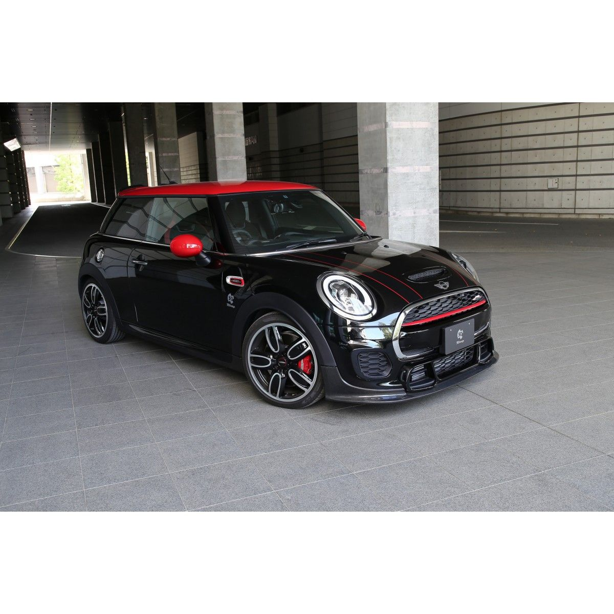3ddesign carbon frontlippe f r mini cooper jcw f55 f56 jcw mini cooper mini john cooper. Black Bedroom Furniture Sets. Home Design Ideas