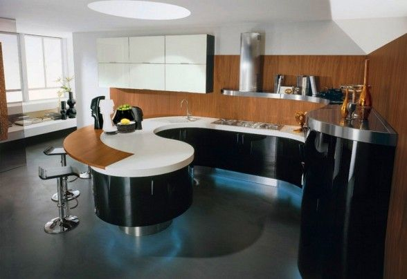 modern curved kitchen island. Modern Italian Kitchen Design Curved Island Bar Stool Interior Ideas And Inspiration, With Quality HD Images Of L