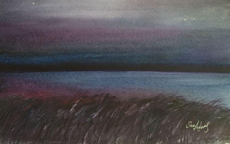 Buy Dark purple band, Watercolour by Samantha Adams professional watercolour artist. on Artfinder. Discover thousands of other original paintings, prints, sculptures and photography from independent artists.