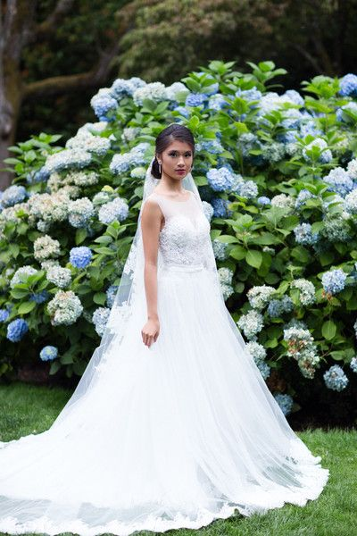 Illusion Neckline Ball Gown With Hand Beaded Bodice
