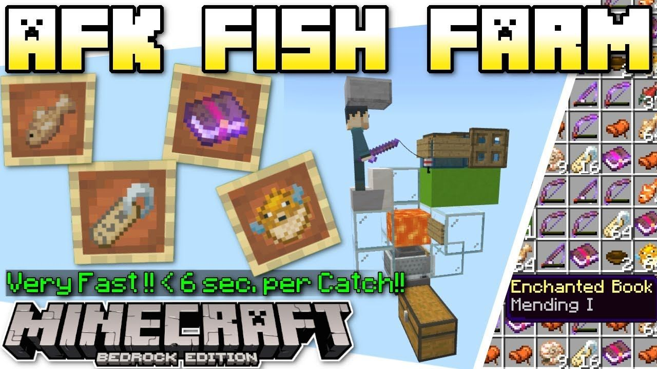 Minecraft Bedrock Afk Fish Farm Automatic Tutorial Ps4 Mcpe Minecraft Fish Farming Playstation Psn