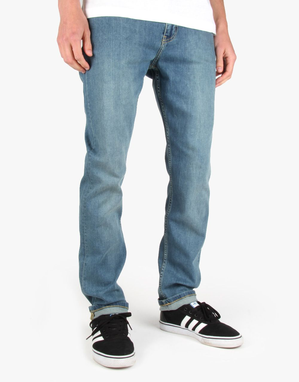 Route One Slim Denim Jeans - washed blue - Google Search
