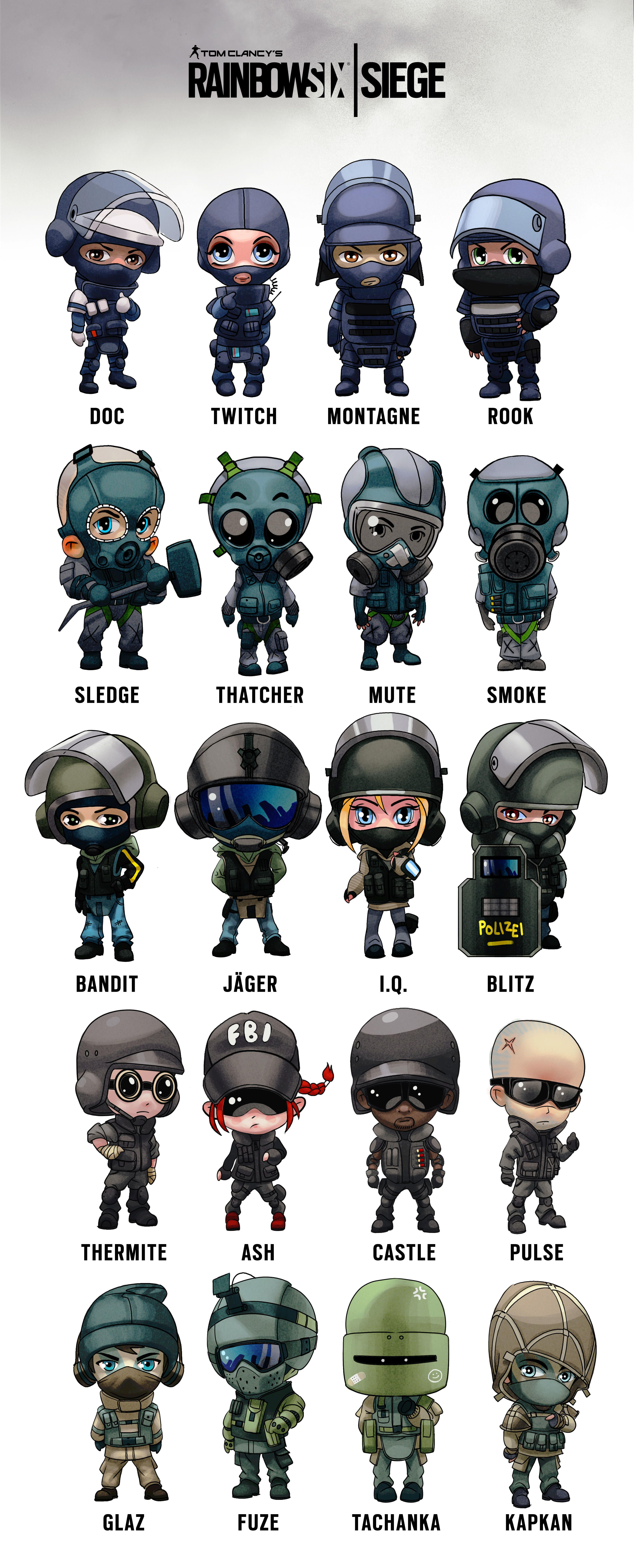 Chibi Operator Poster R6s Questionable Stuff Tom