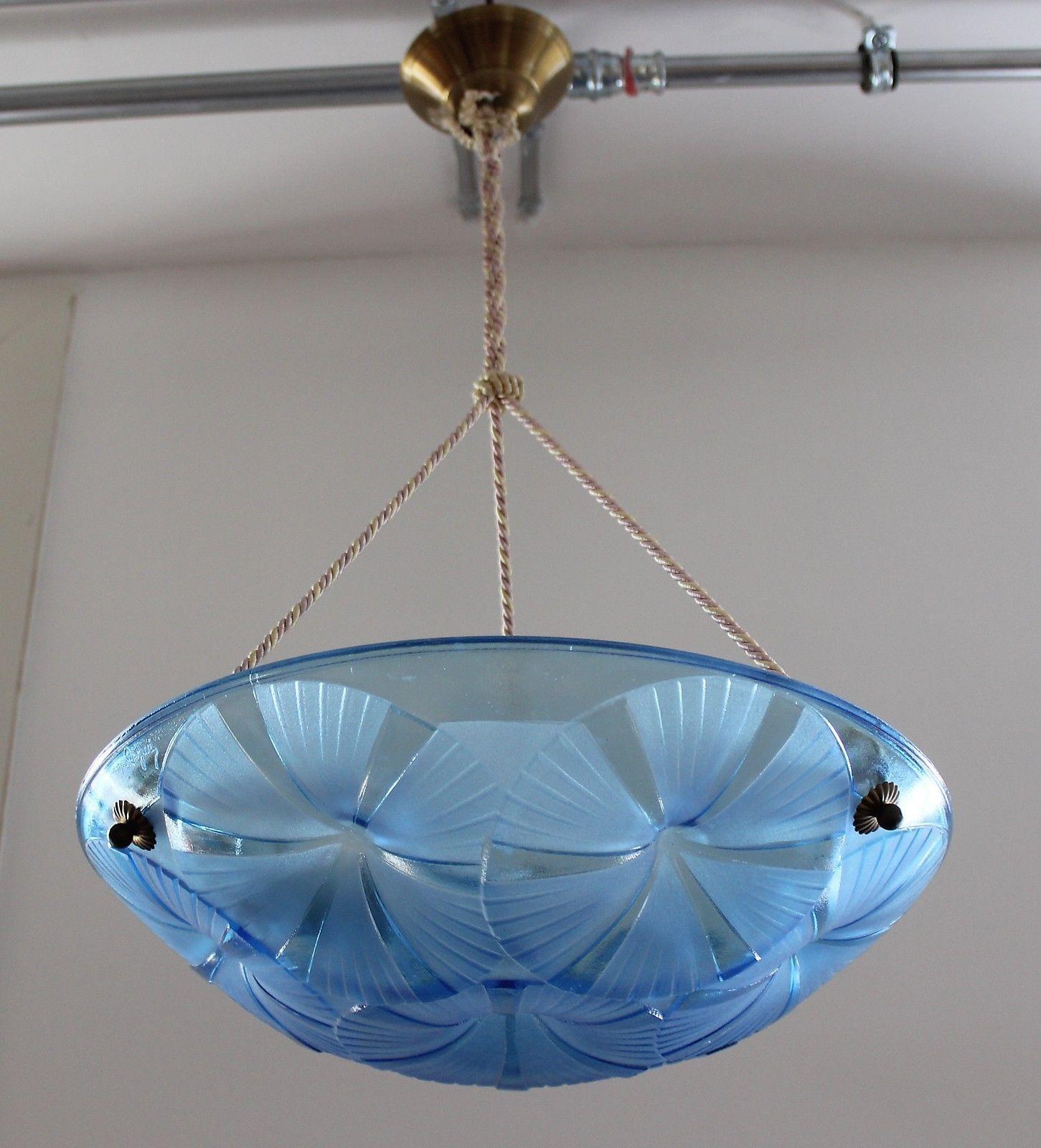 Tolle Degue Art Deco Schalenlampe Aus Frankreich Um 1920 30